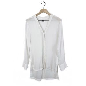 Helmut Lang Sheer Button Down Tunic